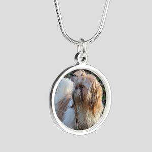 Silver Round Shih Tzu Necklace Necklaces