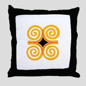ADINKRA STRENGTH Throw Pillow