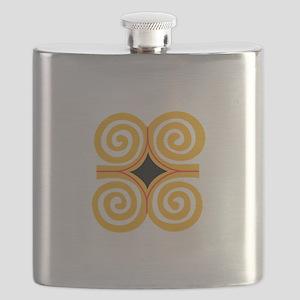 ADINKRA STRENGTH Flask