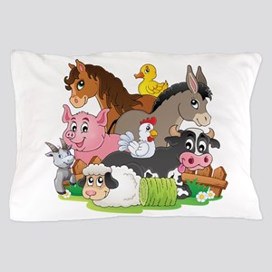 Cartoon Farm Animals Pillow Case