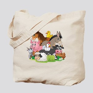 Cartoon Farm Animals Tote Bag