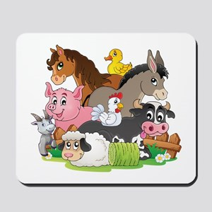 Cartoon Farm Animals Mousepad
