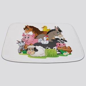 Cartoon Farm Animals Bathmat