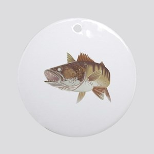 LARGE WALLEYE Ornament (Round)