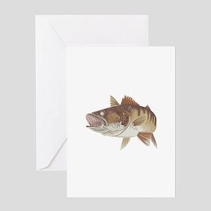 LARGE WALLEYE Greeting Cards