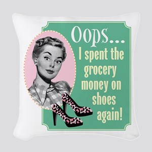 Oops Woven Throw Pillow