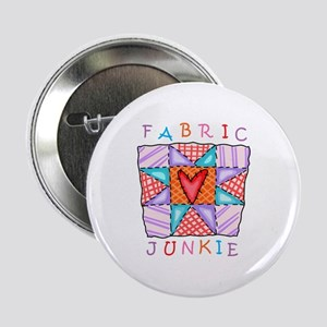 "Fabric Junkie 2.25"" Button (10 pack)"