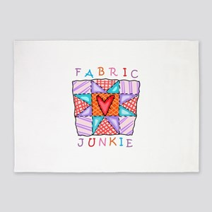 Fabric Junkie 5'x7'Area Rug