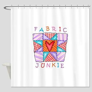 Fabric Junkie Shower Curtain