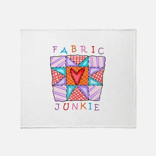 Fabric Junkie Throw Blanket