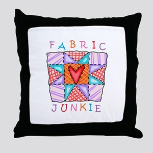 Fabric Junkie Throw Pillow