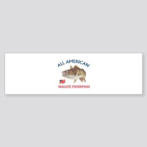 AMERICAN WALLEYE FISHERMAN Bumper Sticker