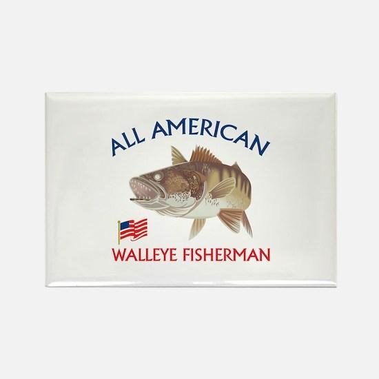 AMERICAN WALLEYE FISHERMAN Magnets
