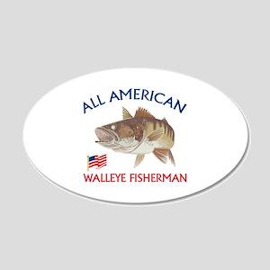 AMERICAN WALLEYE FISHERMAN Wall Decal
