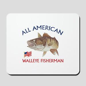 AMERICAN WALLEYE FISHERMAN Mousepad
