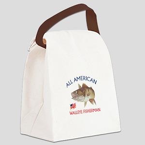 AMERICAN WALLEYE FISHERMAN Canvas Lunch Bag