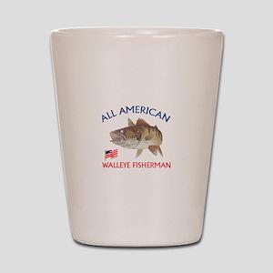 AMERICAN WALLEYE FISHERMAN Shot Glass