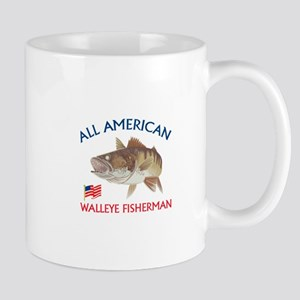 AMERICAN WALLEYE FISHERMAN Mugs