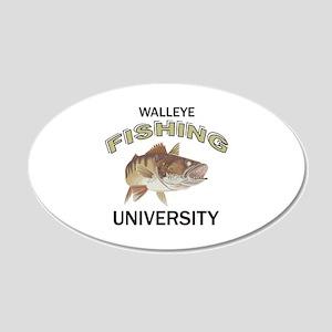 WALLEYE FISHING UNIVERSITY Wall Decal