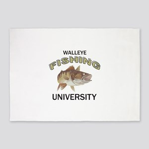 WALLEYE FISHING UNIVERSITY 5'x7'Area Rug