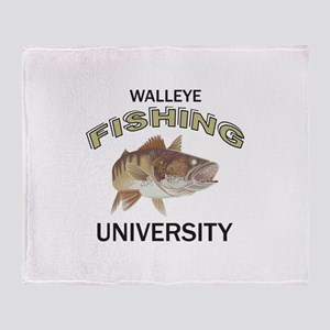 WALLEYE FISHING UNIVERSITY Throw Blanket