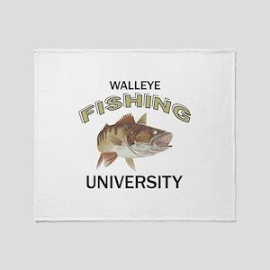 WALLEYE FISHING UNIVERSITY Throw Blanket