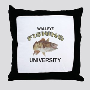 WALLEYE FISHING UNIVERSITY Throw Pillow