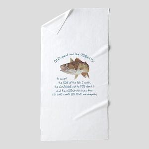 A FISHERMANS PRAYER Beach Towel