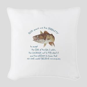 A FISHERMANS PRAYER Woven Throw Pillow