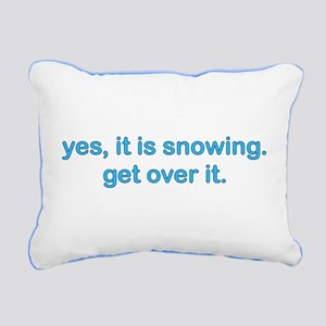 Yes, Snow Rectangular Canvas Pillow