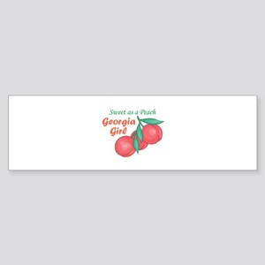 Sweet As A Peach Georgia Gire Bumper Sticker