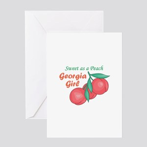 Sweet As A Peach Georgia Gire Greeting Cards