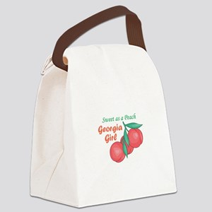 Sweet As A Peach Georgia Gire Canvas Lunch Bag