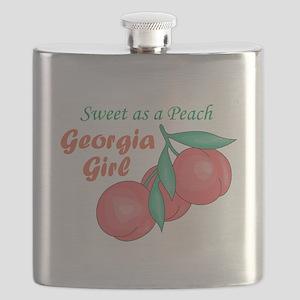 Sweet As A Peach Georgia Gire Flask