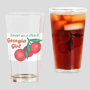 Sweet As A Peach Georgia Gire Drinking Glass