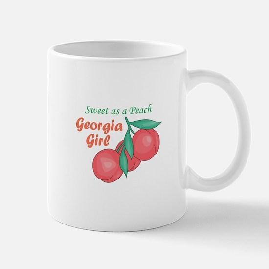 Sweet As A Peach Georgia Gire Mugs