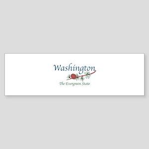 Washington The Evergreen State Bumper Sticker
