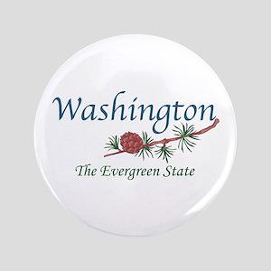 "Washington The Evergreen State 3.5"" Button"