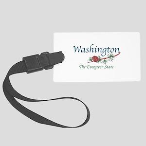 Washington The Evergreen State Luggage Tag
