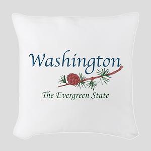 Washington The Evergreen State Woven Throw Pillow