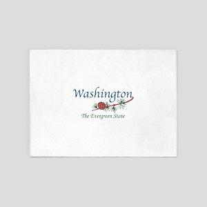 Washington The Evergreen State 5'x7'Area Rug