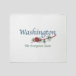 Washington The Evergreen State Throw Blanket
