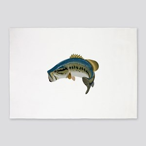 LARGE MOUTH BASS 5'x7'Area Rug
