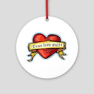 Heart True Love Waits Ornament (Round)