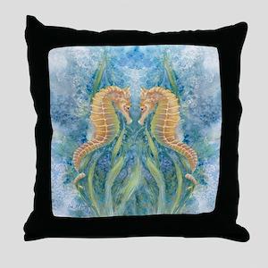 Sweet Seahorses Throw Pillow