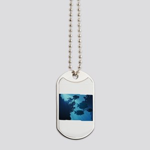 Underwater Blue World Fish Scuba Diver Dog Tags