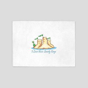 I Love Those Sandy Days 5'x7'Area Rug