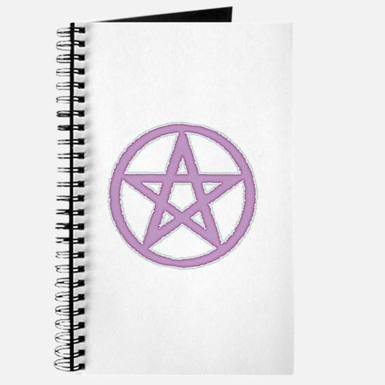 Lilac Puffy Pentagram Journal