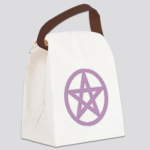 Lilac Puffy Pentagram Canvas Lunch Bag