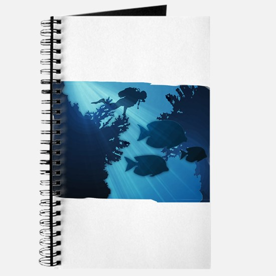 Underwater Blue World Fish Scuba Diver Journal
